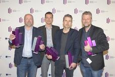 Ulrich Beuth (Flensburger Brauerei), Andreas Lehmann (ad.quarter), Tom Krause (ad.quarter), Torsten Hennings (Studio Funk)
