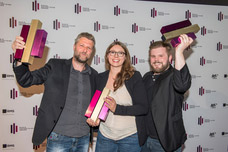 Torsten Hennings (Studio Funk), Simone Thyssen (Grabarz & Partner), Thorben Dauer (Grabarz & Partner)