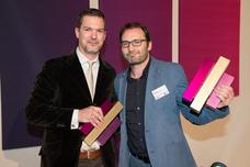 Gewinner Best Innovative Idea: Jan Lohrengel (Hastings), Willy Kaussen (Scholz & Friends)