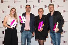 Jennifer Allgeyer (Grabarz & Partner), Norman Scholl (Grabarz & Partner), Bianca Dyckhoff (Unilever), Torsten Hennings (Studio Funk)