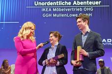 Barbara Schöneberger, Lotte Strasburger (GGH), Tom Geister (GGH)